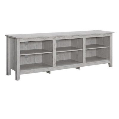 half off d7070 4ecc5 Walker Edison 70-in Rustic Wood TV Stand- White Wash at ...