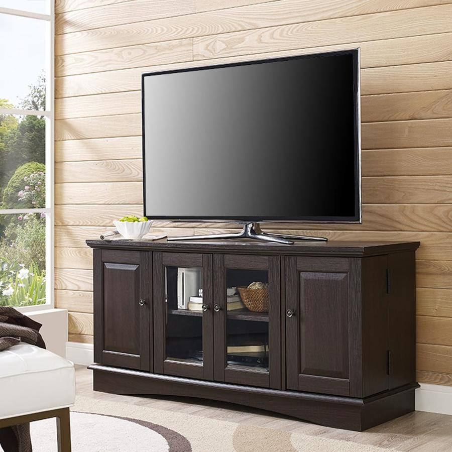 Walker Edison 52 In Traditional Wood Tv Stand Espresso