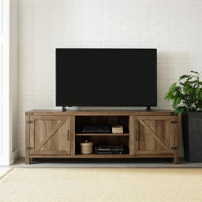 Walker Edison Rustic Oak Tv Stand In The Tv Stands Department At Lowes Com
