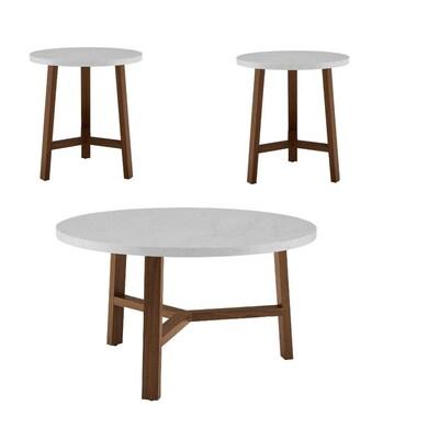 Walker Edison 3 Piece Mid Century Modern Accent Table Set