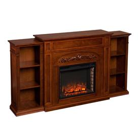 cb23055761c9dd Boston Loft Furnishings 72.5-in W 5000-BTU Autumn Oak MDF LED Electric  Fireplace