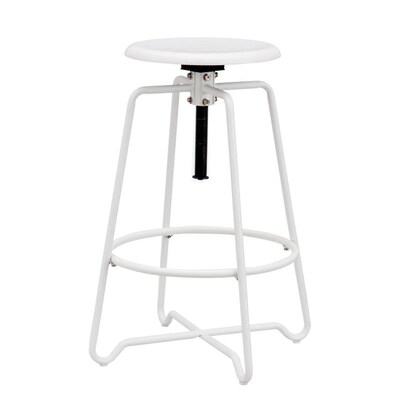 Pleasing Boston Loft Furnishings Gridley White Counter Stool At Lowes Com Unemploymentrelief Wooden Chair Designs For Living Room Unemploymentrelieforg