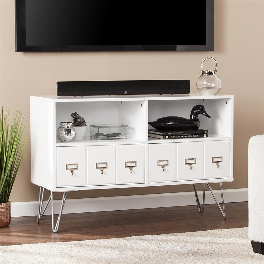 Boston Loft Furnishings Blandship Modern White TV Cabinet