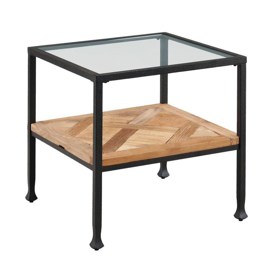 Boston Loft Furnishings Yadkin Reclaimed Wood End Table With Gl Top