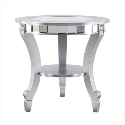 Stupendous Leyton Matte Silver Glass End Table Andrewgaddart Wooden Chair Designs For Living Room Andrewgaddartcom