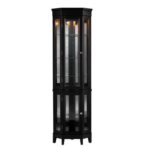 Lowe S Knotty Pine Cabinets: Boston Loft Furnishings Nakasi Black Pine Curio Cabinet At
