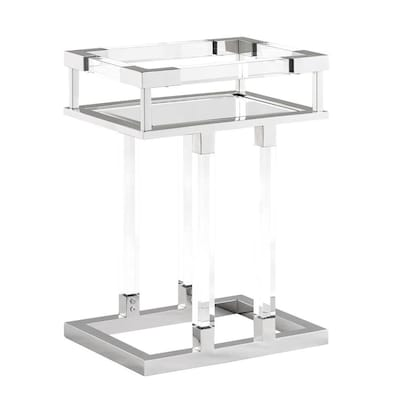 Sensational Boston Loft Furnishings Gavin Acrylic Side Table At Lowes Com Caraccident5 Cool Chair Designs And Ideas Caraccident5Info