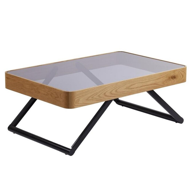Boston Loft Furnishings Orlakes Smoked Glass Glass Coffee Table In The Coffee Tables Department At Lowes Com