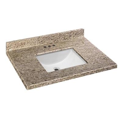 Custom Rectangular Bathroom Vanity Tops At Lowes Com