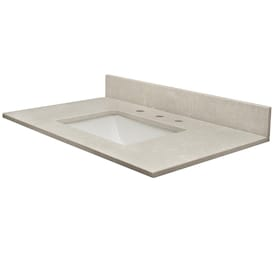 Design House Contempo 61 In Solid White Cultured Marble Single Sink Bathroom Vanity Top In The Bathroom Vanity Tops Department At Lowes Com