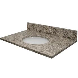 Bestview 25 In Beige Polished Granite Single Sink Bathroom Vanity Top In The Bathroom Vanity Tops Department At Lowes Com