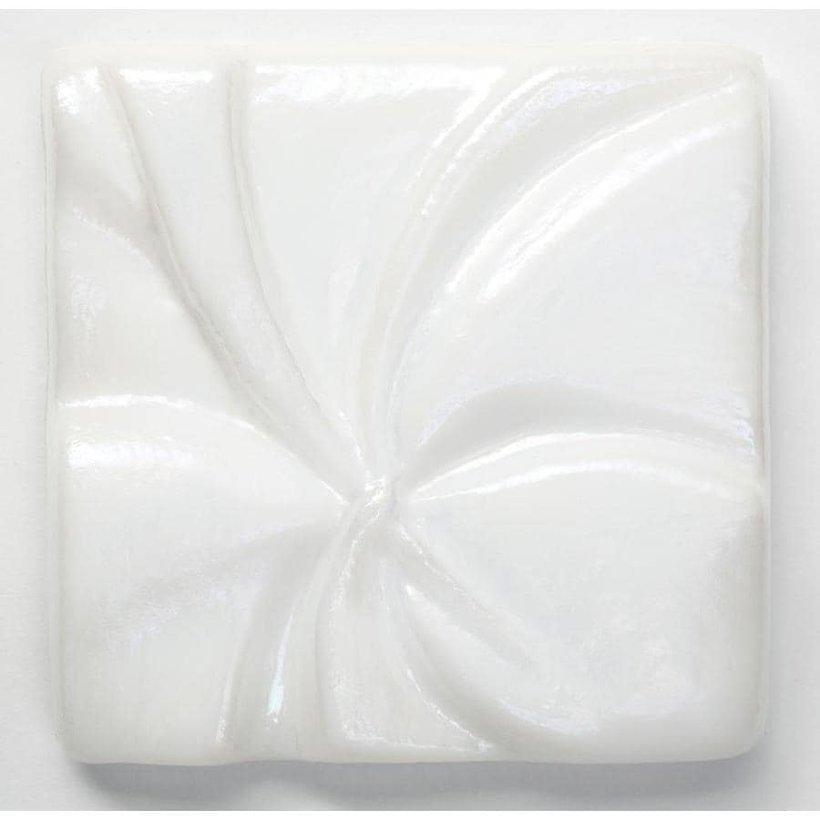 Oceanside Glass & Tile Fire and Form 5-Pack Alabaster White Iridescent Glass Listello Tile (Common: 3-in x 3-in; Actual: 3-in x 3-in)