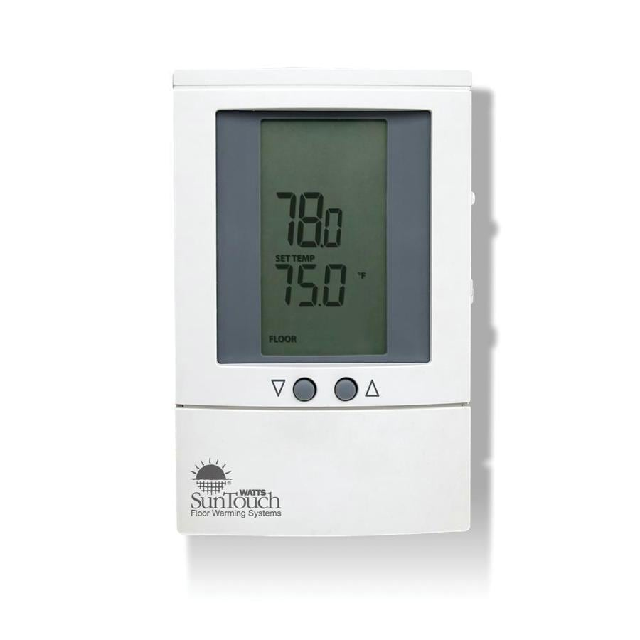 Watts SunTouch 8 In X 95 White Dual Voltage Digital Programmable Thermostat