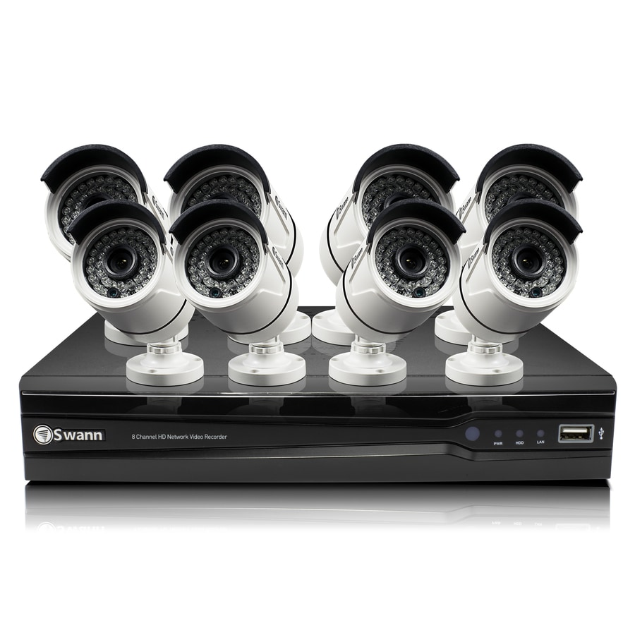 Swann 7300 Series Digital Wired Outdoor Security Camera Kit with Night Vision