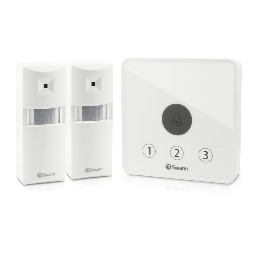 Shop Motion Sensors Detectors At Wiring Outdoor Sensor Light Switch Swann Home Series 100 Degree Passive Infrared Security Detector