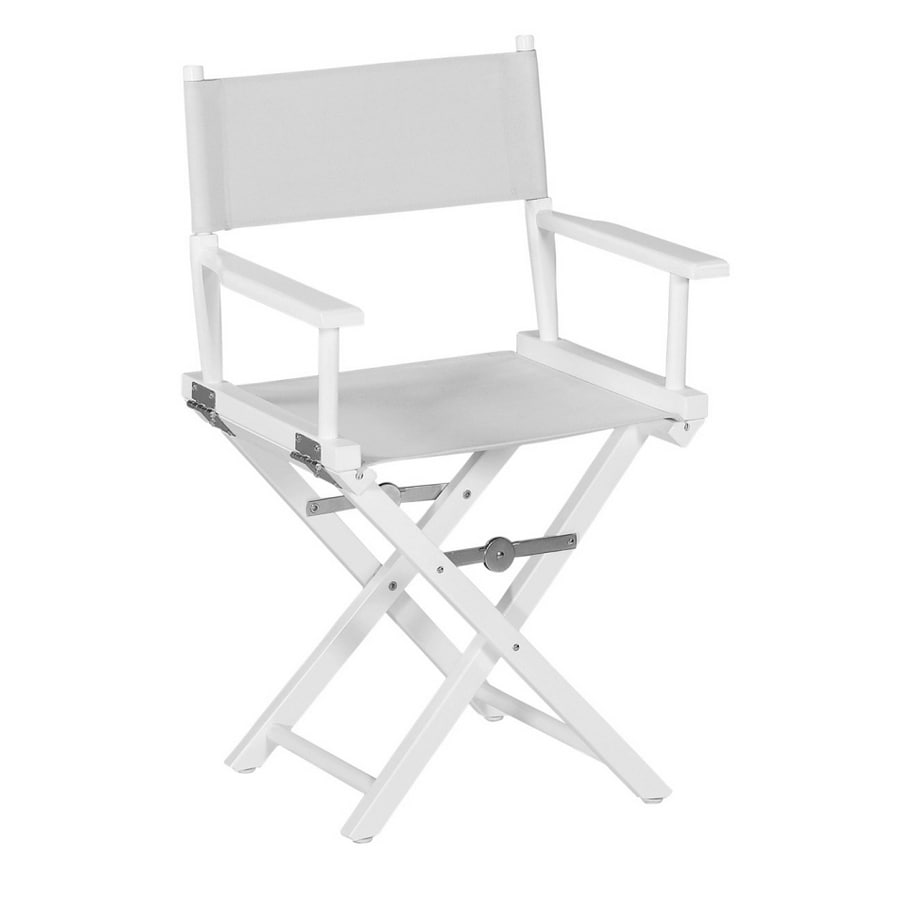 Garden Treasures White Directoru0027s Chair Frame