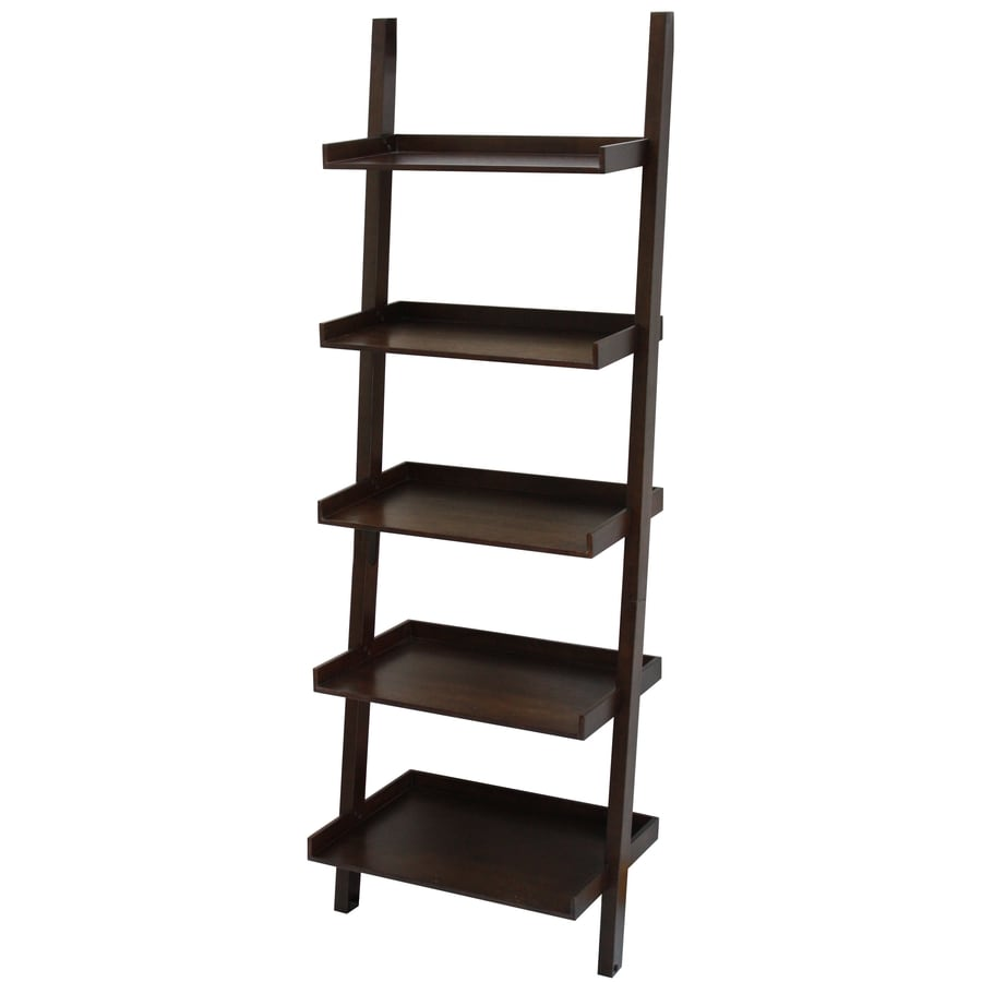 shelving units lowes shop allen roth 74 75 in h x 25 75 in w x 17 5 in d 5 26054
