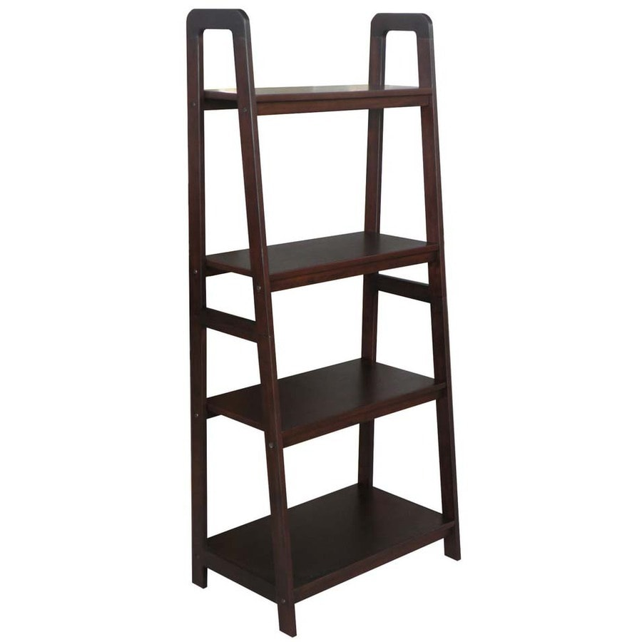 shelving units lowes shop allen roth 55 in h x 24 in w x 14 75 in d 4 tier 26054