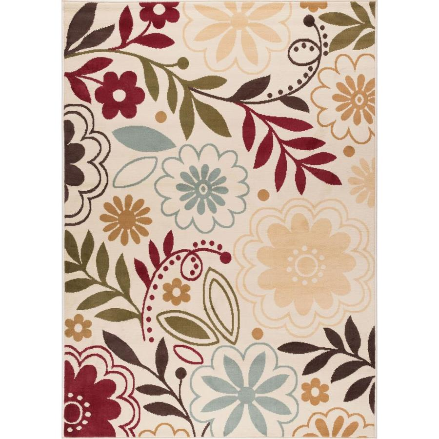 Tayse Laguna Beige Rectangular Indoor Machine-Made Area Rug (Common: 5 x 7; Actual: 5-ft W x 7-ft L)