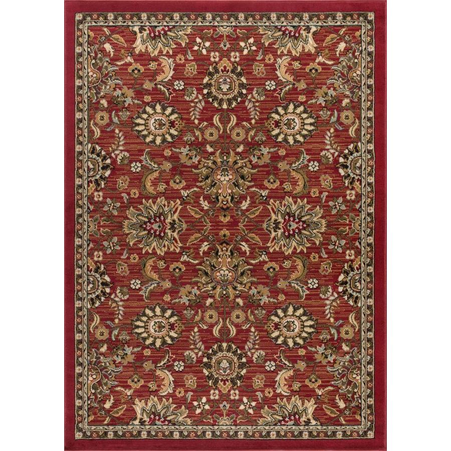 Tayse Laguna Red Rectangular Indoor Machine-Made Area Rug (Common: 8 x 10; Actual: 7.5-ft W x 9.8333-ft L)