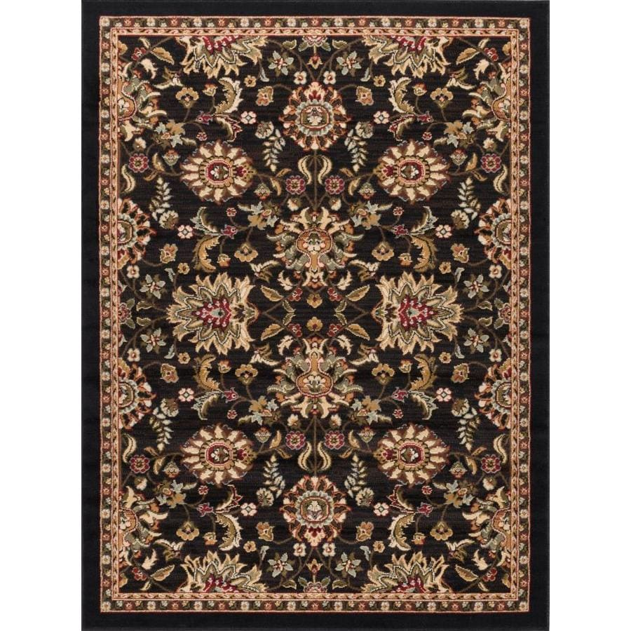 Tayse Laguna Black Rectangular Indoor Machine-Made Area Rug (Common: 5 x 7; Actual: 5-ft W x 7-ft L)