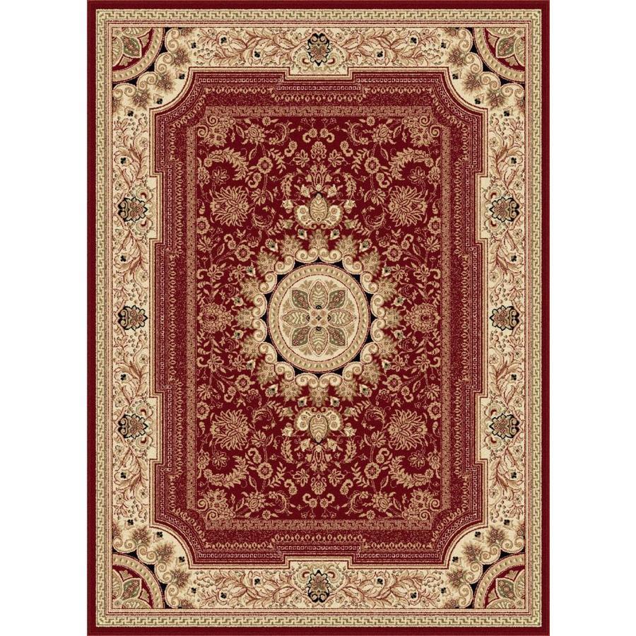 Tayse Sensation Red Rectangular Indoor Area Rug (Common: 8 x 10; Actual: 7.8333-ft W x 10.25-ft L)