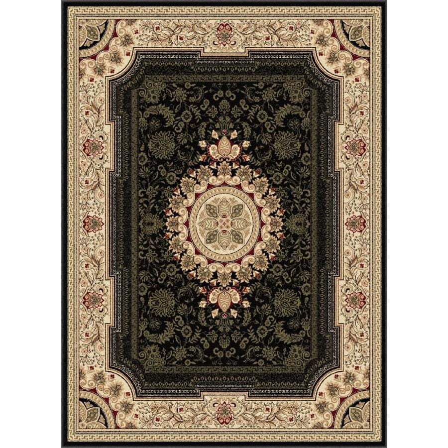 Tayse Sensation Black Rectangular Indoor Area Rug (Common: 9 x 12; Actual: 8.75-ft W x 12.25-ft L)