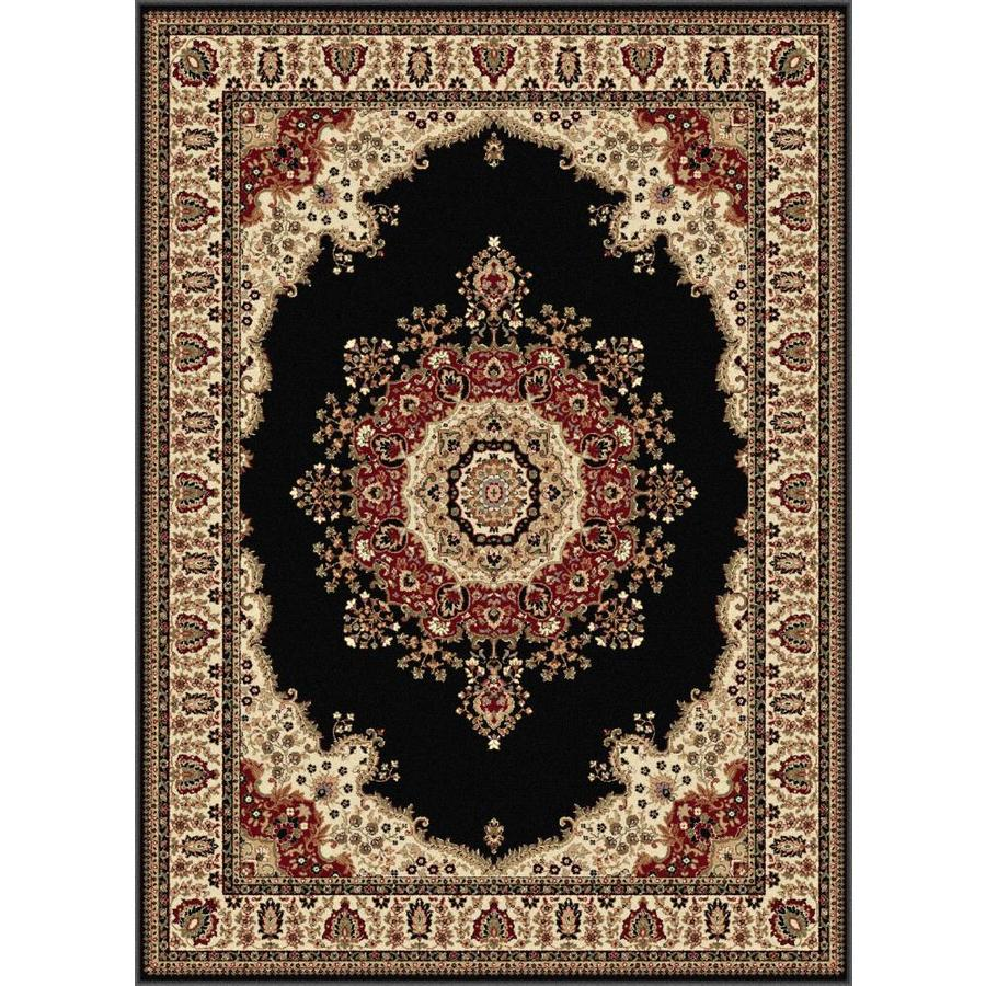 Tayse Sensation Black Rectangular Indoor Area Rug (Common: 8 x 10; Actual: 7.8333-ft W x 10.25-ft L)