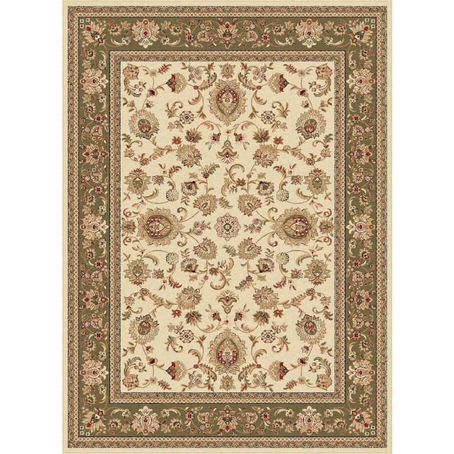 Tayse Sensation Ivory Rectangular Indoor Area Rug (Common: 5 x 7; Actual: 5.25-ft W x 7.25-ft L)