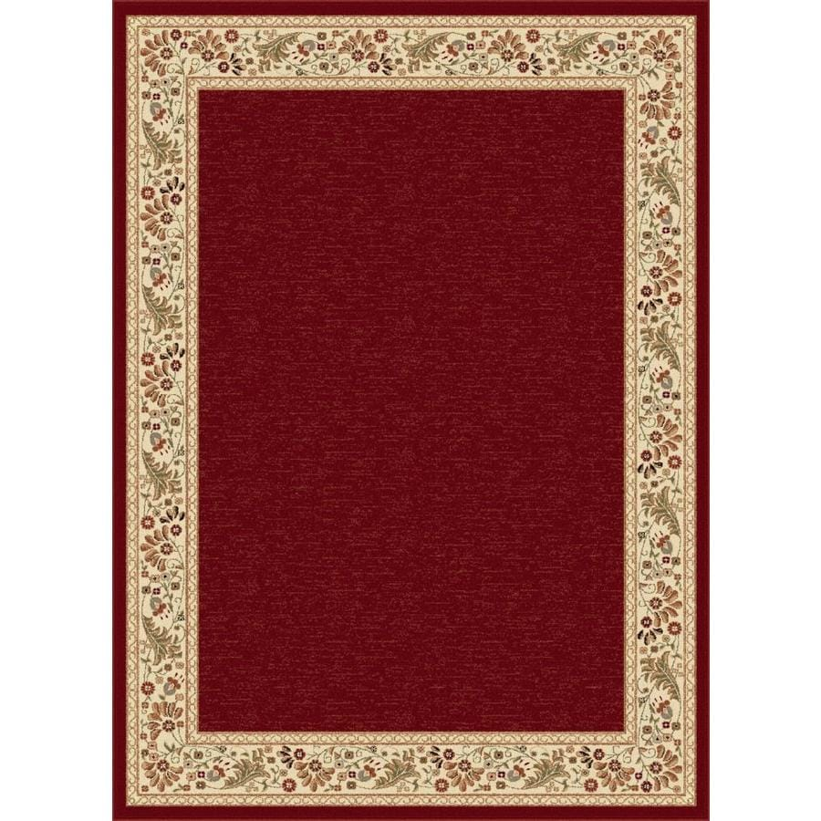 Tayse Sensation Red Rectangular Indoor Machine-Made Area Rug (Common: 5 x 7; Actual: 5.25-ft W x 7.25-ft L)