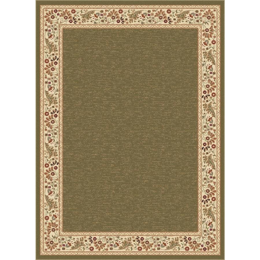 Tayse Sensation Green Rectangular Indoor Machine-made Area Rug (Common: 5 x 7; Actual: 5.25-ft W x 7.25-ft L)