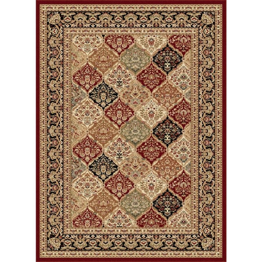 Tayse Sensation Red Rectangular Indoor Machine-Made Area Rug (Common: 8 x 10; Actual: 7.83-ft W x 10.25-ft L)