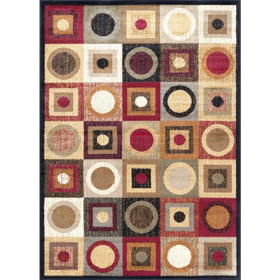 Tayse Elegance Multi Rectangular Indoor Machine-made Area Rug (Common: 5 x 7; Actual: 5-ft W x 7-ft L)