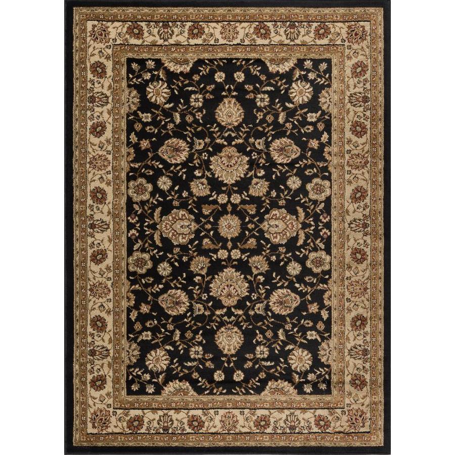Tayse Elegance Black Rectangular Indoor Machine-made Area Rug (Common: 8 x 10; Actual: 7.5-ft W x 9.8333-ft L)