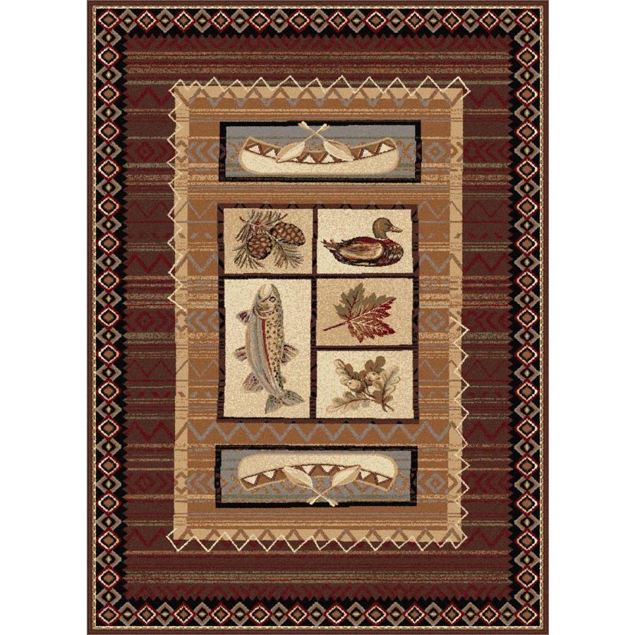 Tayse Nature Brown Rectangular Indoor Machine-made Area Rug (Common: 5 x 7; Actual: 5.25-ft W x 7.25-ft L)