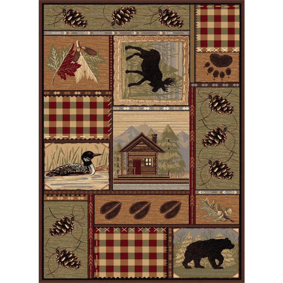 Tayse Nature Rectangular Indoor Area Rug (Common: 5 x 7; Actual: 5.25-ft W x 7.25-ft L)