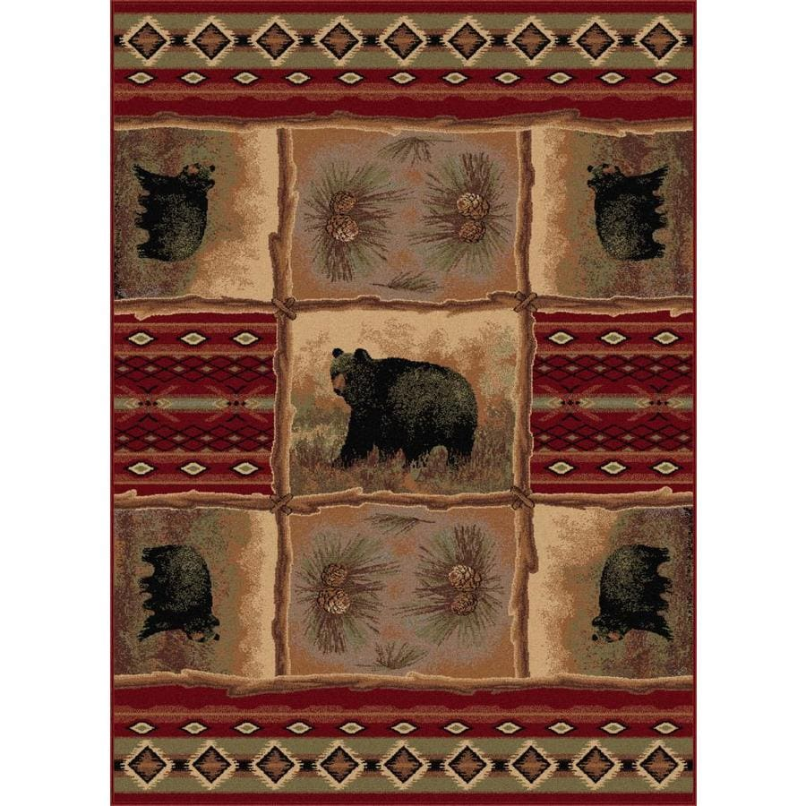 Tayse Nature Red Rectangular Indoor Machine-Made Area Rug (Common: 8 x 10; Actual: 7.8333-ft W x 10.25-ft L)