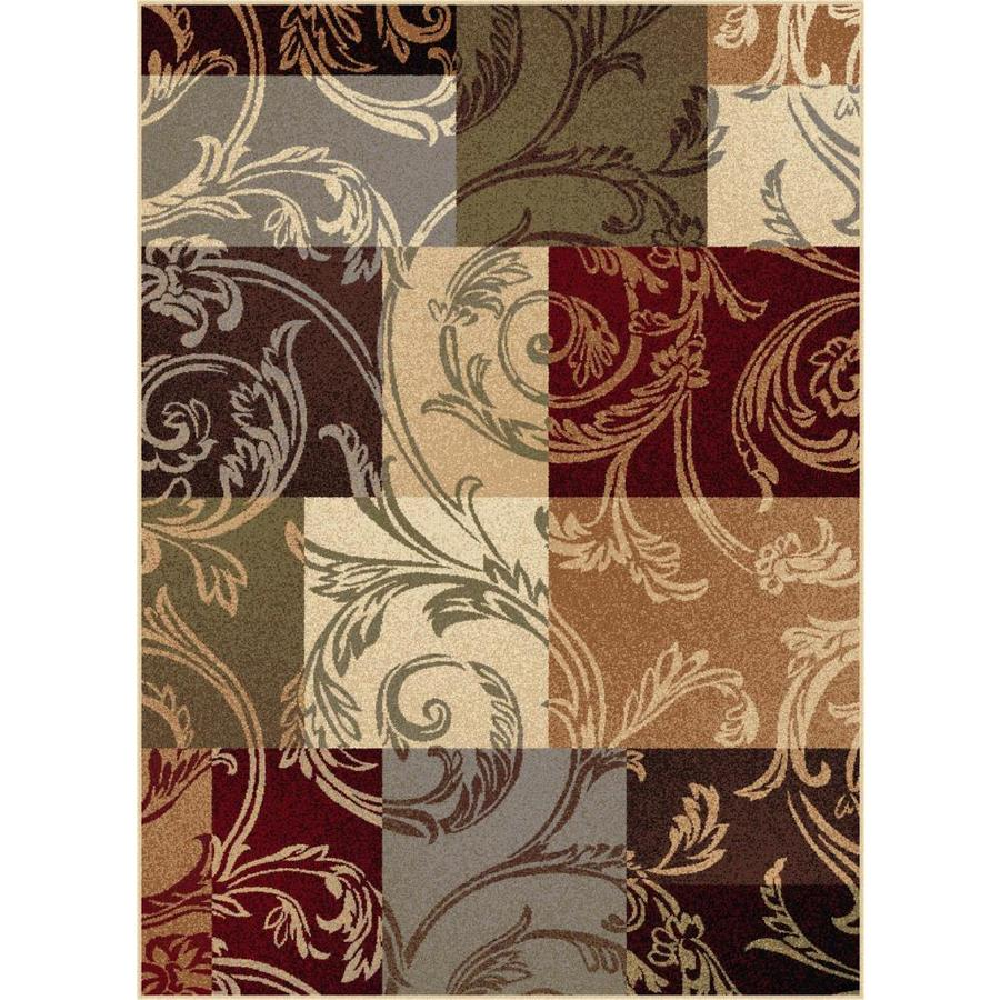 Tayse Impressions Multi Rectangular Indoor Machine-made Area Rug (Common: 8 x 10; Actual: 7.8333-ft W x 10.25-ft L)