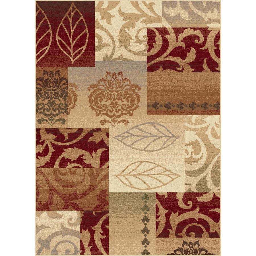 Tayse Impressions Rectangular Indoor Machine-Made Area Rug (Common: 8 x 10; Actual: 7.8333-ft W x 10.25-ft L)