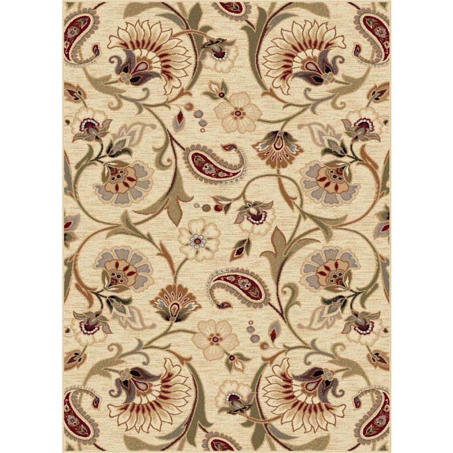 Tayse Impressions Beige Rectangular Indoor Area Rug (Common: 8 x 10; Actual: 7.8333-ft W x 10.25-ft L)