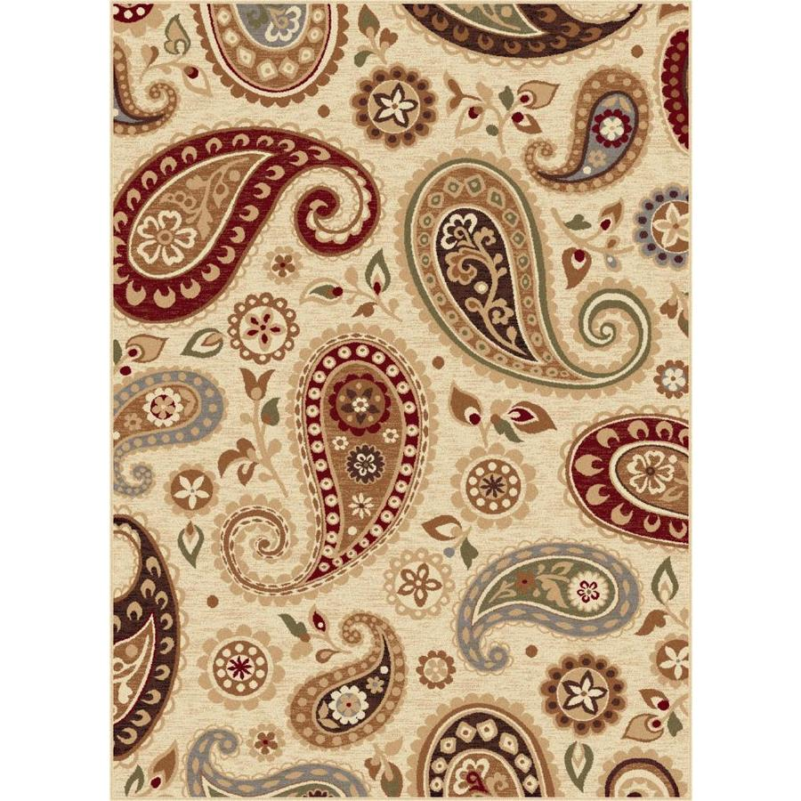 Tayse Impressions Beige Rectangular Indoor Machine-made Area Rug (Common: 8 x 10; Actual: 7.8333-ft W x 10.25-ft L)