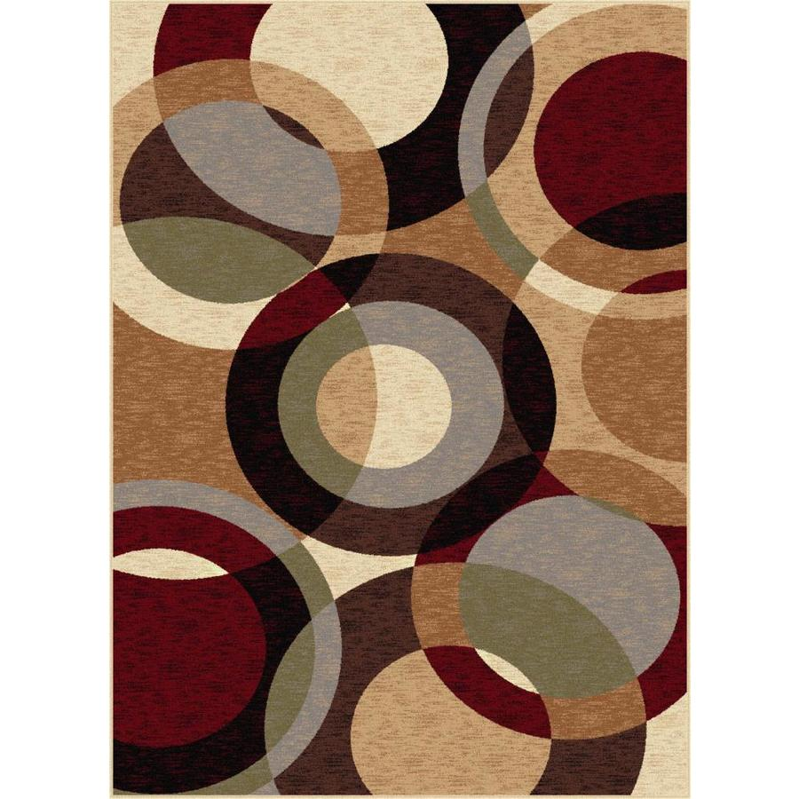 Tayse Festival Multi Rectangular Indoor Machine-made Area Rug (Common: 8 x 10; Actual: 7.8333-ft W x 10.25-ft L)