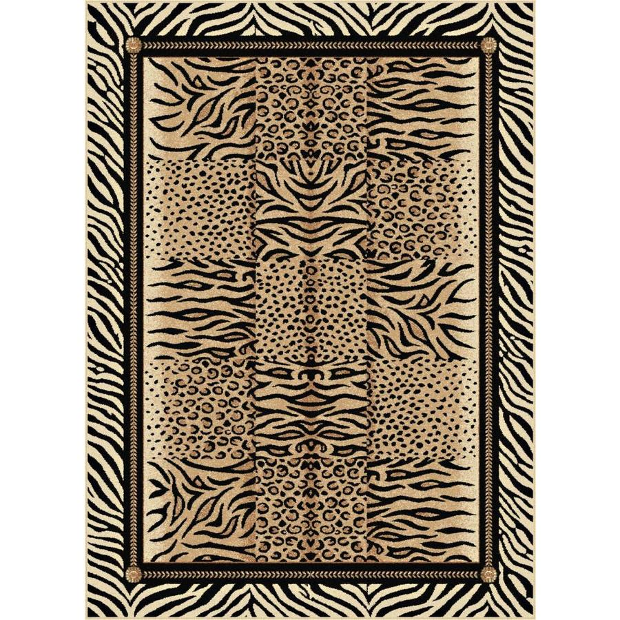 Tayse Festival Beige Rectangular Indoor Machine-made Area Rug (Common: 8 x 10; Actual: 7.8333-ft W x 10.25-ft L)