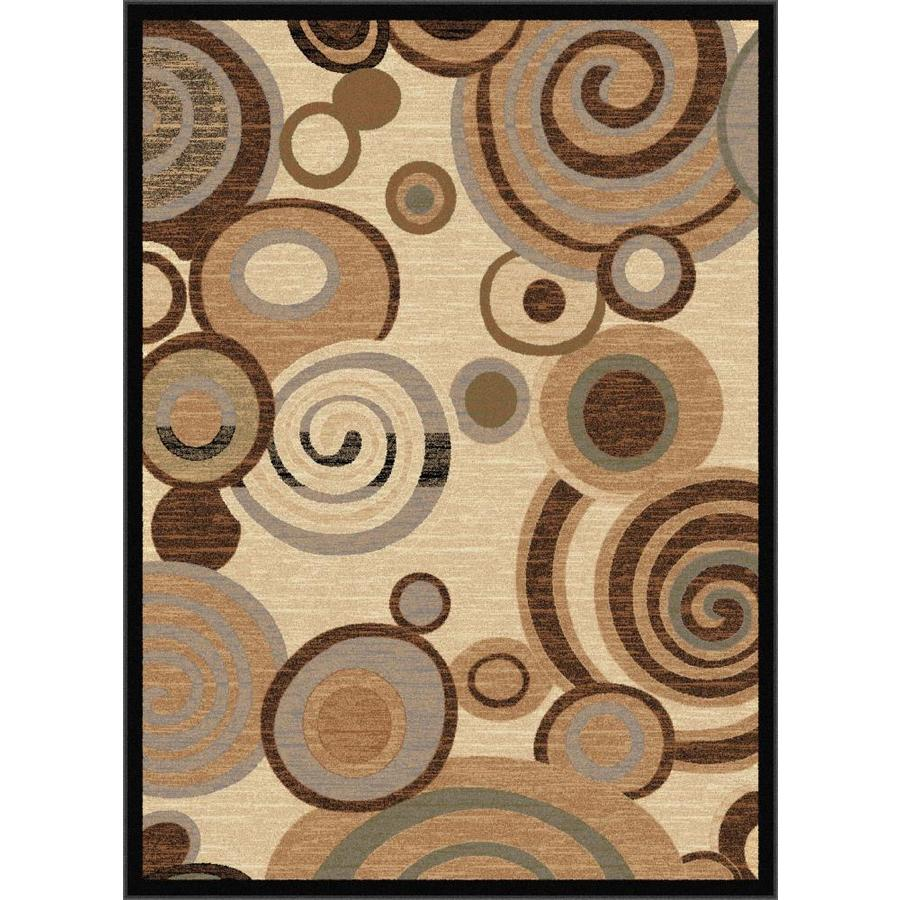 Tayse Festival Beige Rectangular Indoor Area Rug (Common: 8 x 10; Actual: 7.8333-ft W x 10.25-ft L)