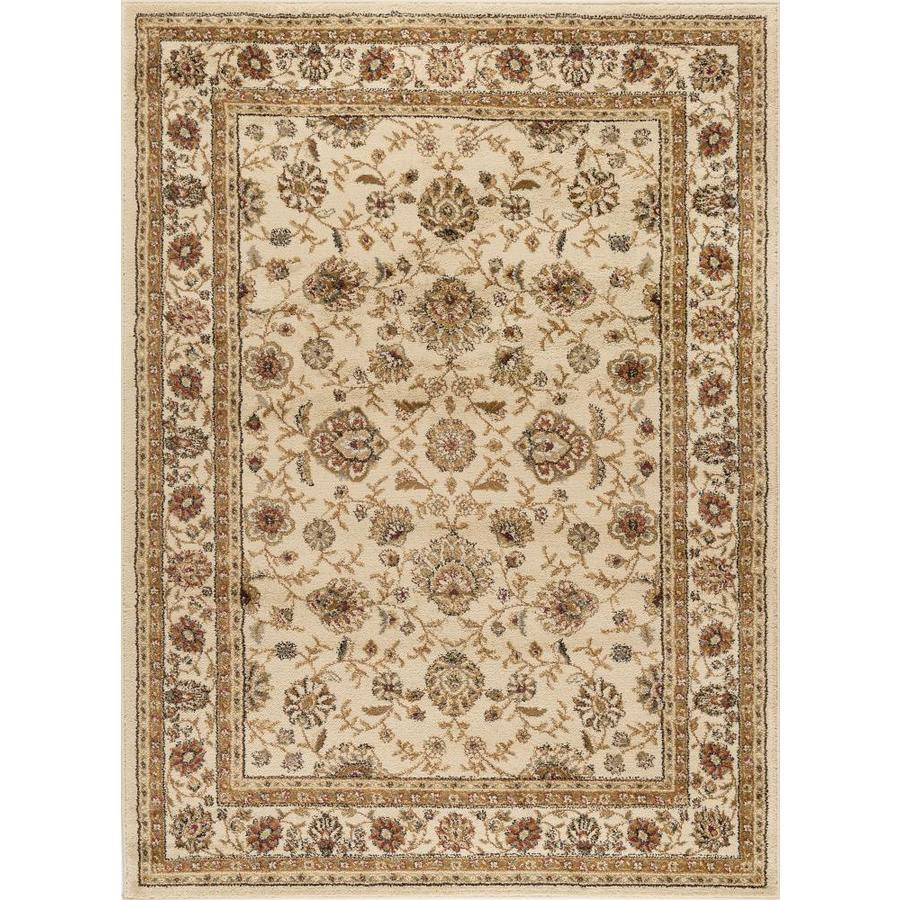 Tayse Elegance Beige Rectangular Indoor Area Rug (Common: 9 x 12; Actual: 9.25-ft W x 12.5-ft L)