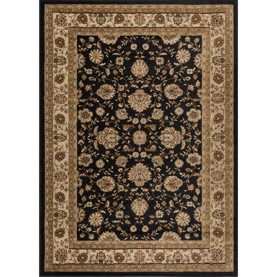 Tayse Elegance Black Rectangular Indoor Machine-made Area Rug (Common: 9 x 12; Actual: 9.25-ft W x 12.5-ft L)