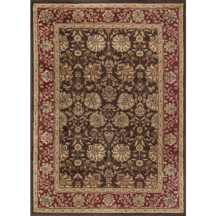 Tayse Elegance Brown Rectangular Indoor Machine-Made Area Rug (Common: 9 x 12; Actual: 9.25-ft W x 12.5-ft L)