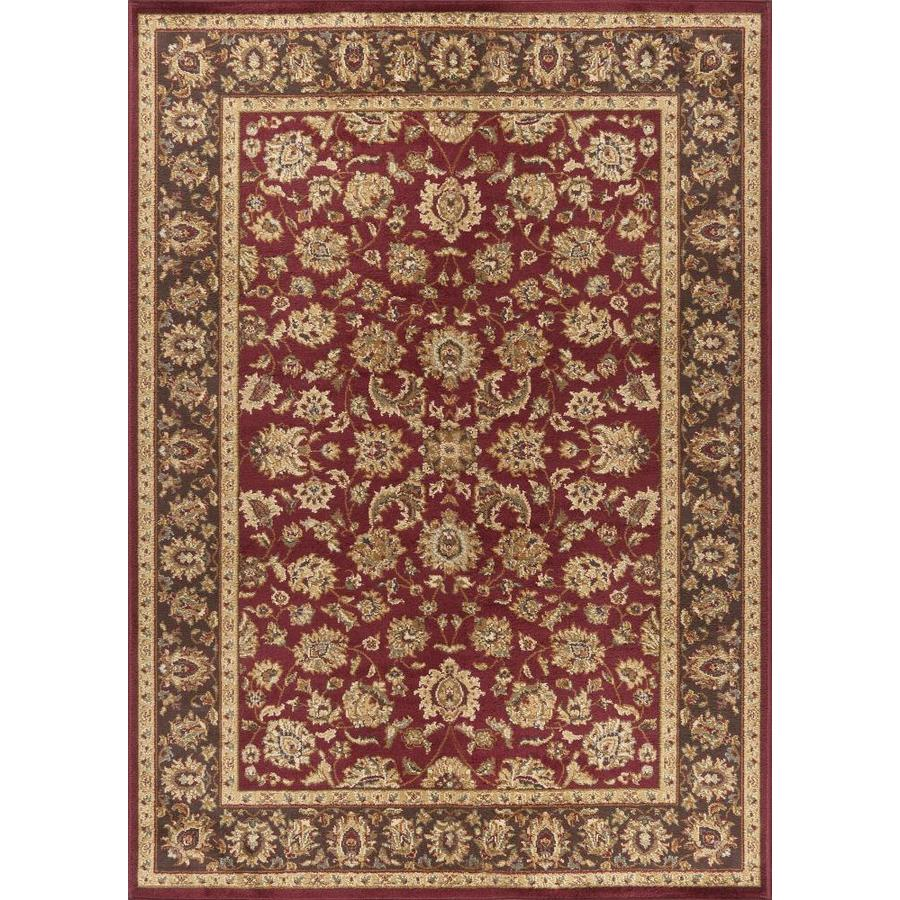 Tayse Elegance Red Rectangular Indoor Machine-Made Area Rug (Common: 5 x 7; Actual: 5-ft W x 7-ft L)