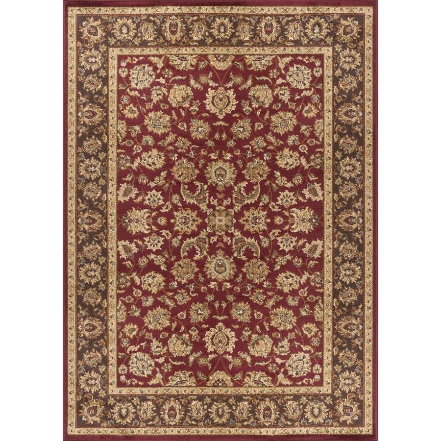 Tayse Elegance Red Rectangular Indoor Machine-made Area Rug (Common: 8 x 10; Actual: 7.5-ft W x 9.8333-ft L)