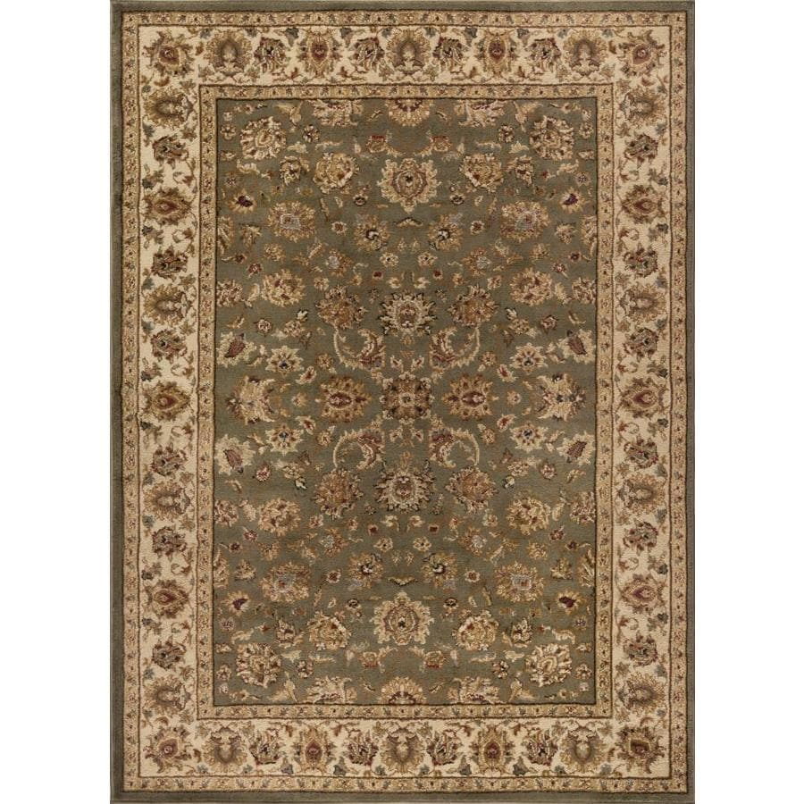 Tayse Elegance Green Rectangular Indoor Machine-made Area Rug (Common: 5 x 7; Actual: 5-ft W x 7-ft L)
